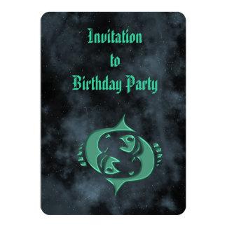 Piscis Invitación 12,7 X 17,8 Cm