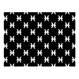 Piscis modelan blanco y negro tarjeta postal