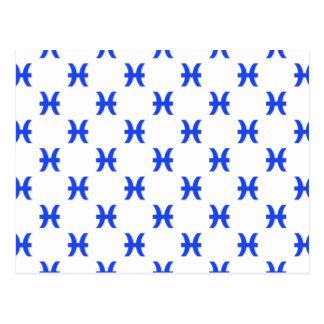 Piscis modelan el azul postal