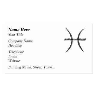 Piscis. Muestra de la astrología del zodiaco. Tarjetas De Visita