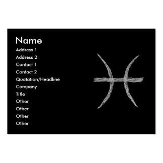 Piscis. Muestra de la astrología del zodiaco. Tarjetas De Visita Grandes