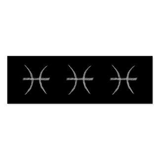 Piscis. Muestra de la astrología del zodiaco. Tarjetas De Visita Mini
