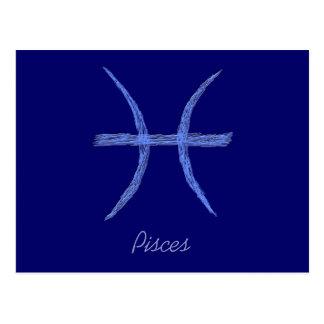 Piscis. Muestra de la astrología del zodiaco Postal