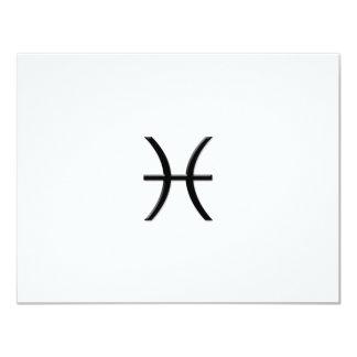 Piscis - muestra del zodiaco invitacion personalizada