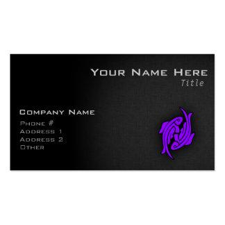 Piscis púrpuras violetas tarjetas de visita
