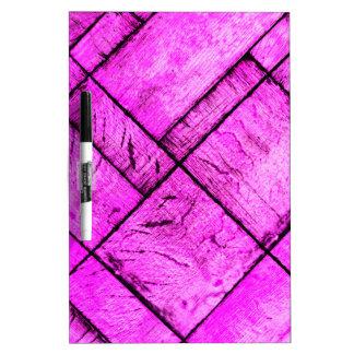 Piso de entarimado rosado pizarra blanca