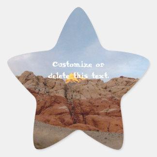 Piso del desierto al techo; Personalizable Pegatinas Forma De Estrella Personalizadas