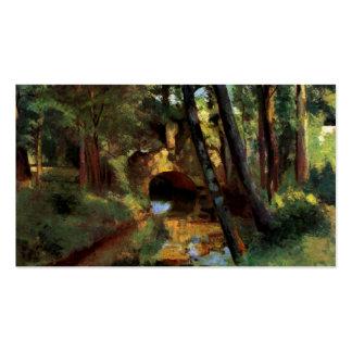 Pissarro que pinta el pequeño arte de Pontoise Fra Tarjetas De Visita