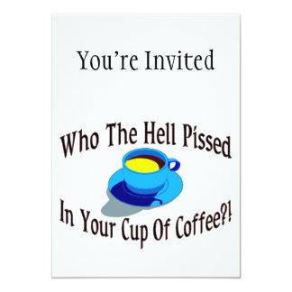 Pissed en su café invitación 12,7 x 17,8 cm