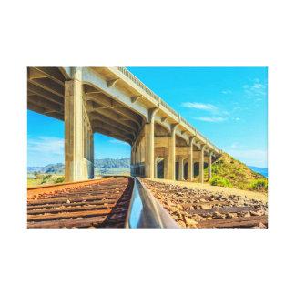 pista del tren de San Diego Del Mar Impresión En Lona