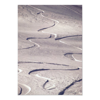 Pistas del esquí invitacion personal