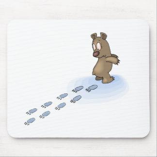 Pistas del oso alfombrilla de ratón