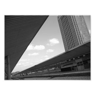 Pistas del tren de Los Ángeles Impresión Fotográfica