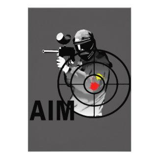 Pistola de Paintball - objetivo