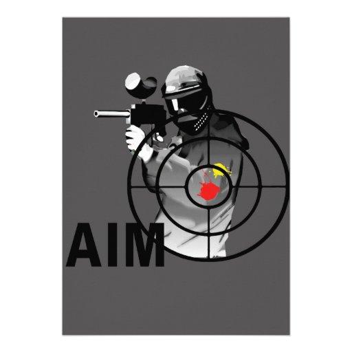 Pistola de Paintball - objetivo Comunicados Personalizados