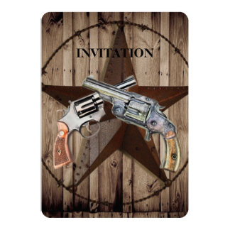 Pistola del país occidental del vaquero de la invitación 12,7 x 17,8 cm