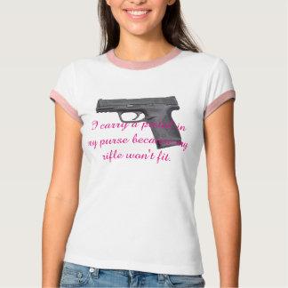 Pistola en mi monedero camisetas
