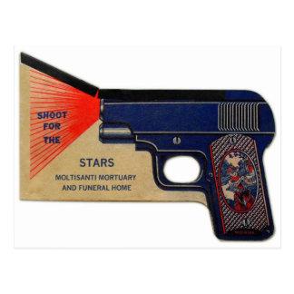 Pistola fúnebre retra del kitsch 30s Molasanti del Postal