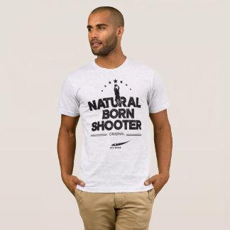 Pistola llevada natural camiseta