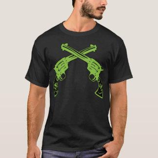 Pistolas retras verdes camiseta