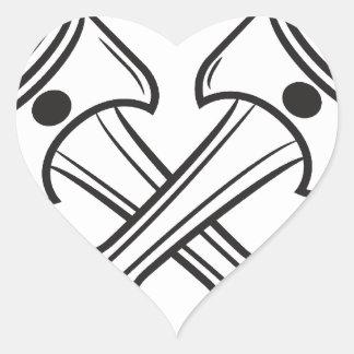 Pistones Pegatina En Forma De Corazón