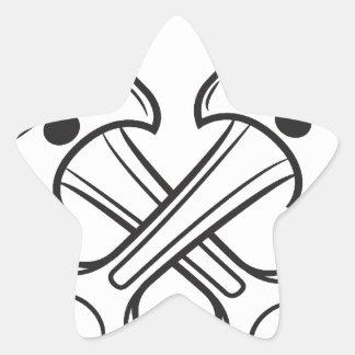 Pistones Pegatina En Forma De Estrella
