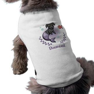 Pitbull 2 de la sirena con el nombre de mascota