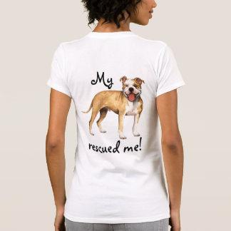 Pitbull americano Terrier del rescate Camiseta