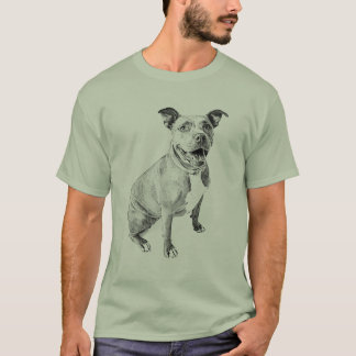 Pitbull amistoso camiseta