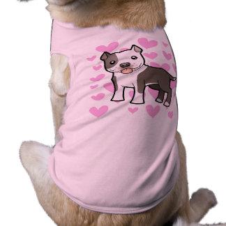 Pitbull/amor de Staffordshire Terrier americano Camiseta Sin Mangas Para Perro
