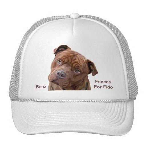 """Pitbull """"Benz"""" de las cercas para el casquillo de  Gorras"""