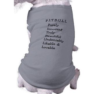 """Pitbull """"Benz"""" de las cercas para el SUÉTER del PE Camiseta Sin Mangas Para Perro"""