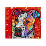 Pitbull cósmico - colorido brillante - idea del postal