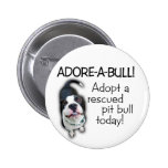 ¡Pitbull de Adorar-UNO-Bull! Chapa Redonda 5 Cm