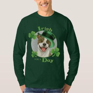 Pitbull del día de St Patrick Camiseta