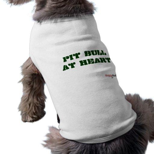 Pitbull en el corazón camisa de mascota