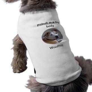 Pitbull en un cuerpo minúsculo camiseta sin mangas para perro