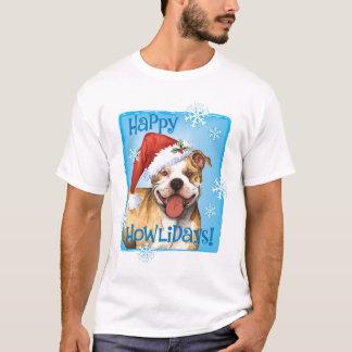 Pitbull feliz Terrier de Howliday Camiseta