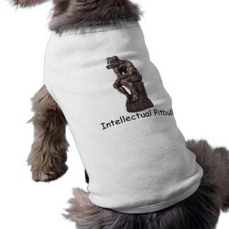 Pitbull intelectual camiseta sin mangas para perro