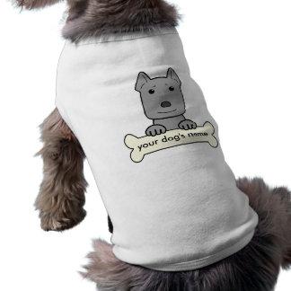 Pitbull personalizado camiseta sin mangas para perro