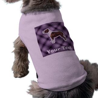 Pitbull púrpura camiseta sin mangas para perro