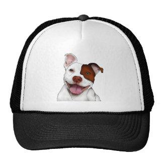 Pitbull sonriente feliz gorras de camionero
