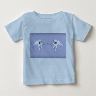 Pitbull Terrier americano blanco/corazones de Camisetas