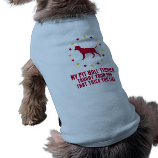 Pitbull Terrier americano Camiseta Sin Mangas Para Perro