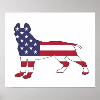 Pitbull Terrier americano Póster