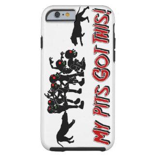 Pitbulls contra el teléfono divertido Cas del Funda Para iPhone 6 Tough