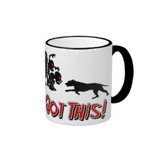 Pitbulls contra la taza de café divertida del