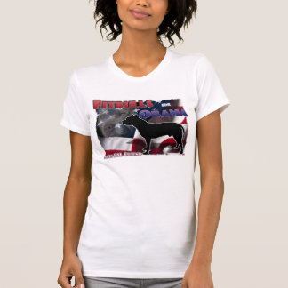 Pitbulls para Obama, amigo Anti-BSL Camiseta