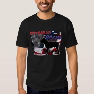 Pitbulls para Obama, amigo Anti-BSL Camisetas