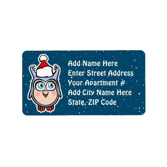 Pitido divertido del bebé que celebra navidad etiqueta de dirección
